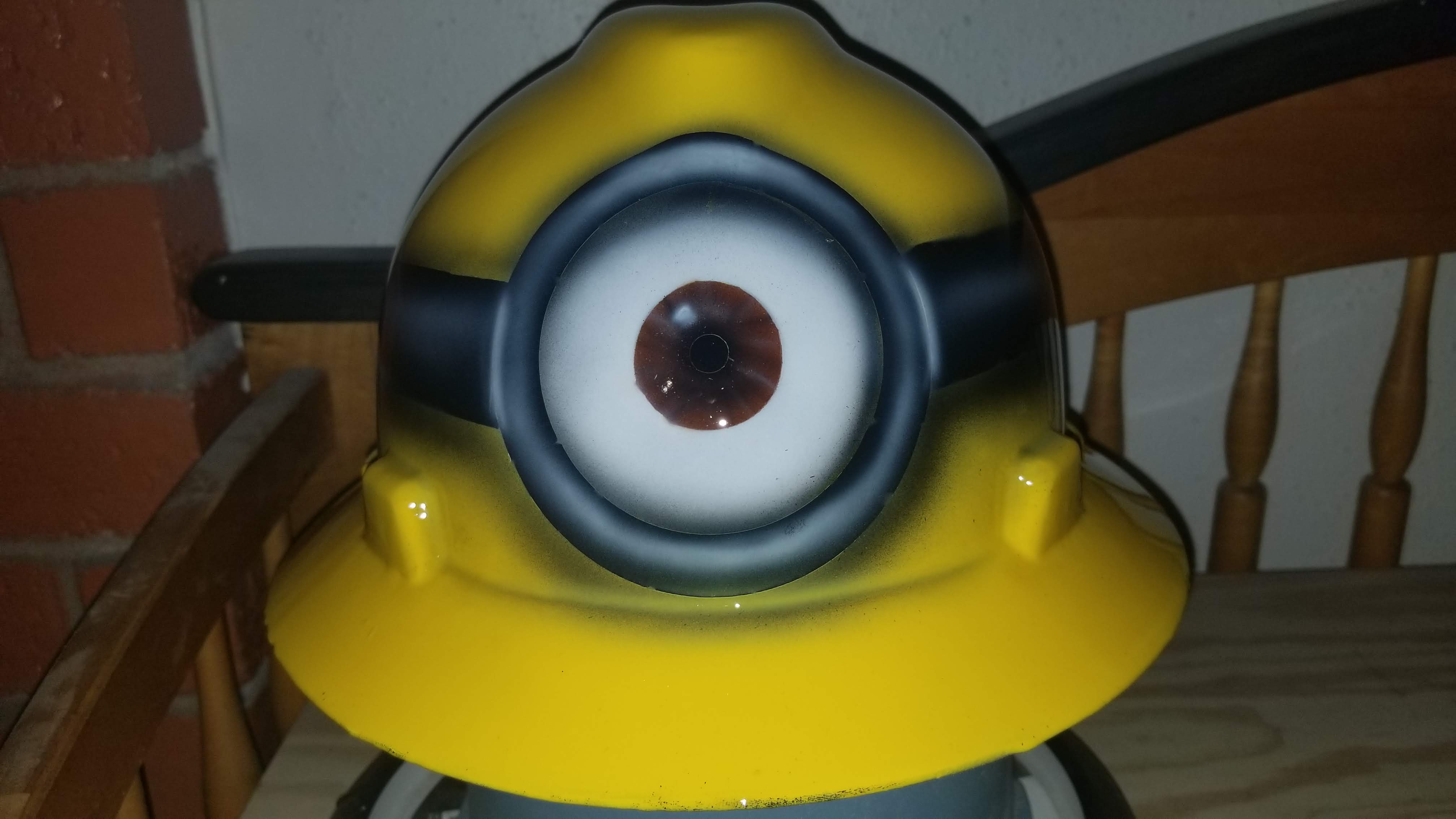 custom hard hat 1 eyed minion