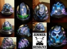 Electrical storm custom hard hat with skull and klein pliers